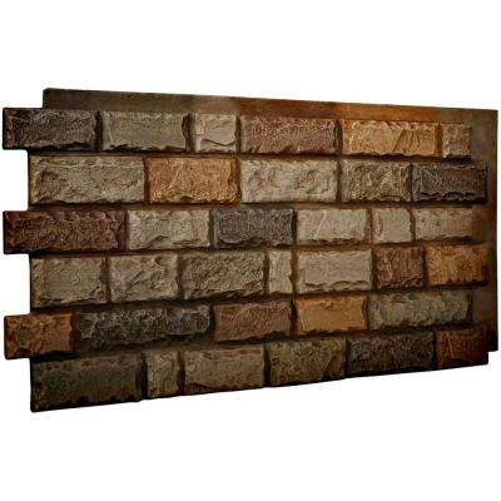1-1/2 in. x 48 in. x 25 in. Terrastone Urethane Cut Coarse Random Rock Wall Panel