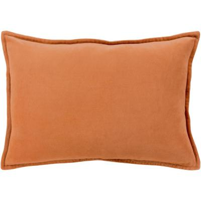 Velizh Orange Solid Polyester 19 in. x 19 in. Throw Pillow