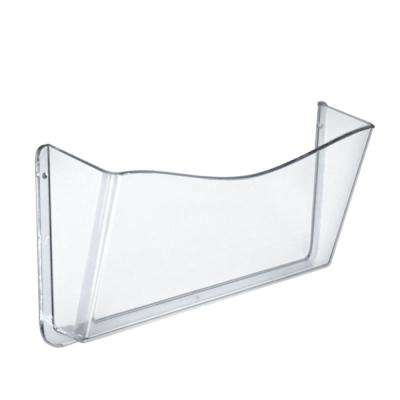 14.7 in. W x 3 in. D x 7 in. H Clear Wall File Holder (4-Pack)