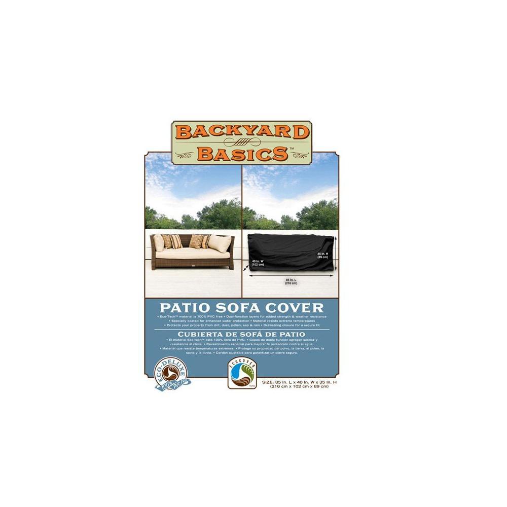 Backyard Basics 85 in.x 40 in.x 35 in. Patio Sofa Eco-Cover