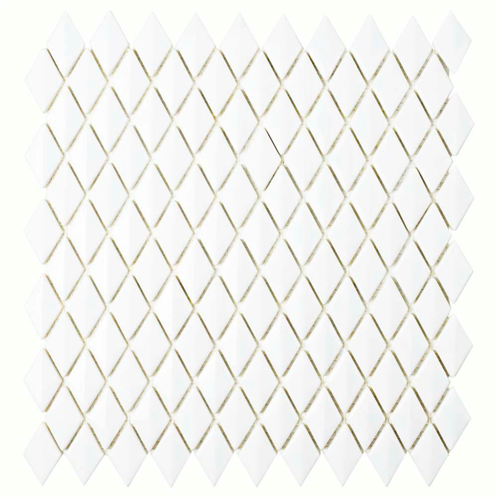 Expressions Beveled Diamond White 11-5/8 in. x 12 in. x 7