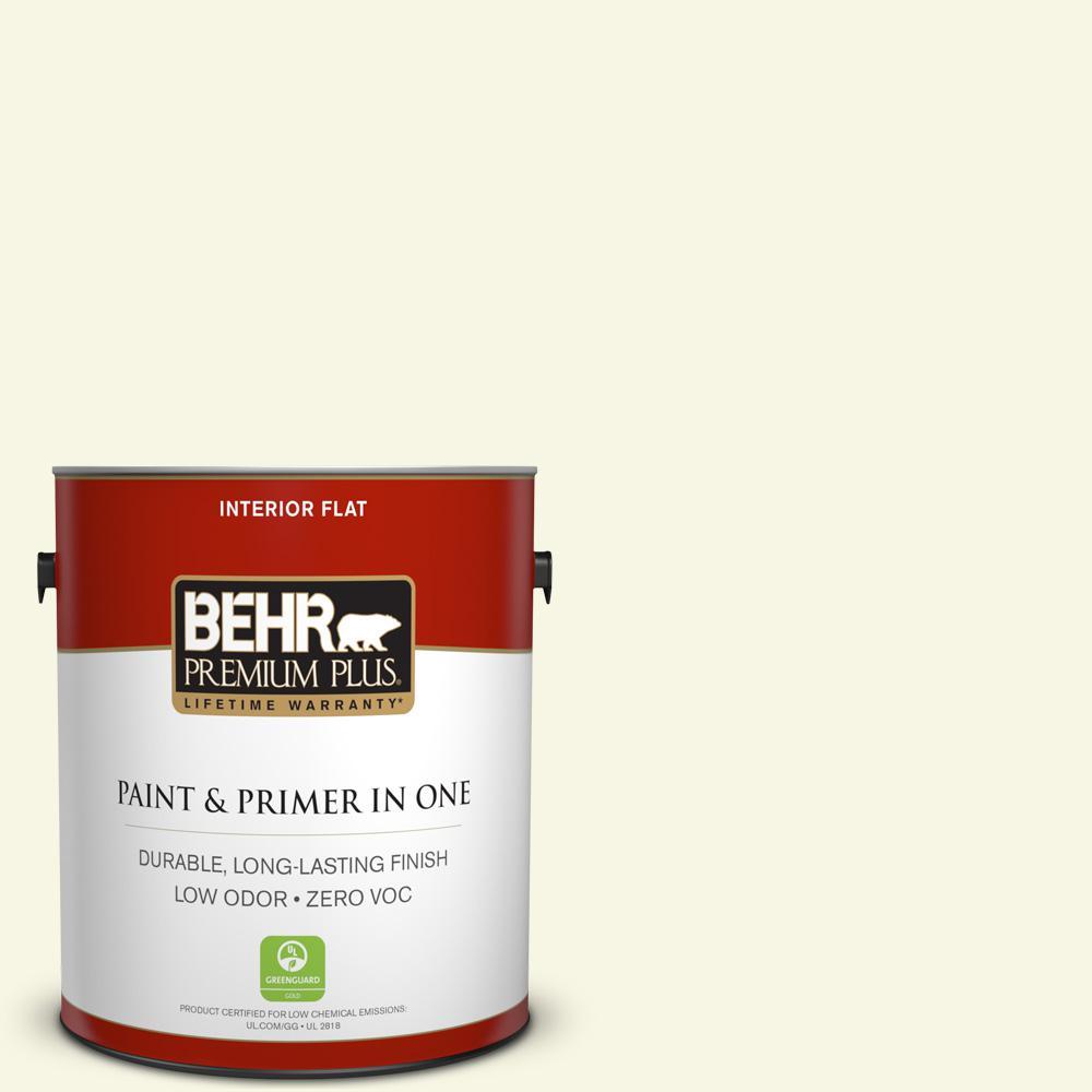 BEHR Premium Plus 1-gal. #W-B-410 Star Shine Zero VOC Flat Interior Paint