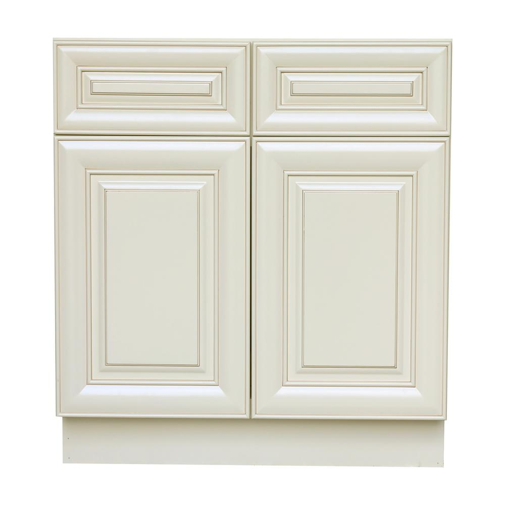 Attrayant Plywell Holden Ready To Assemble 33x34.5x24 In. Sink Base Cabinet With 2