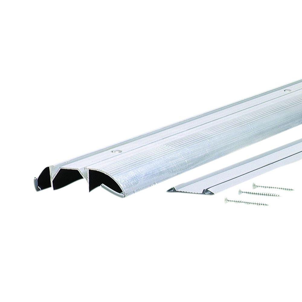 High 3-3/8 in. x 36 in. Aluminum Threshold with Vinyl Seal