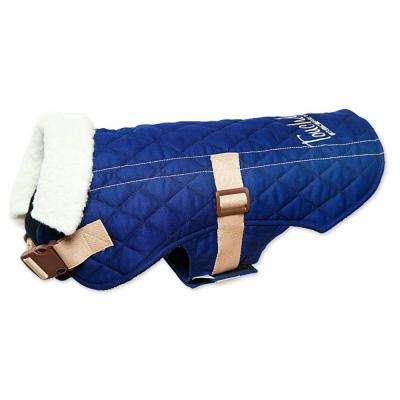 Small Royal Blue Original Sherpa-Bark Designer Fashion-Forward Dog Coat