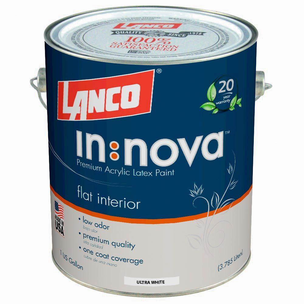 Lanco Innova 1 Gal. White Flat Interior Paint