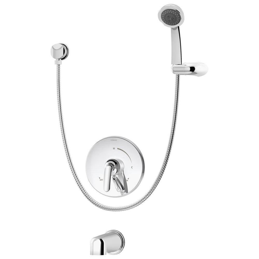 Elm 3-Spray Handshower in Chrome (Valve Included)