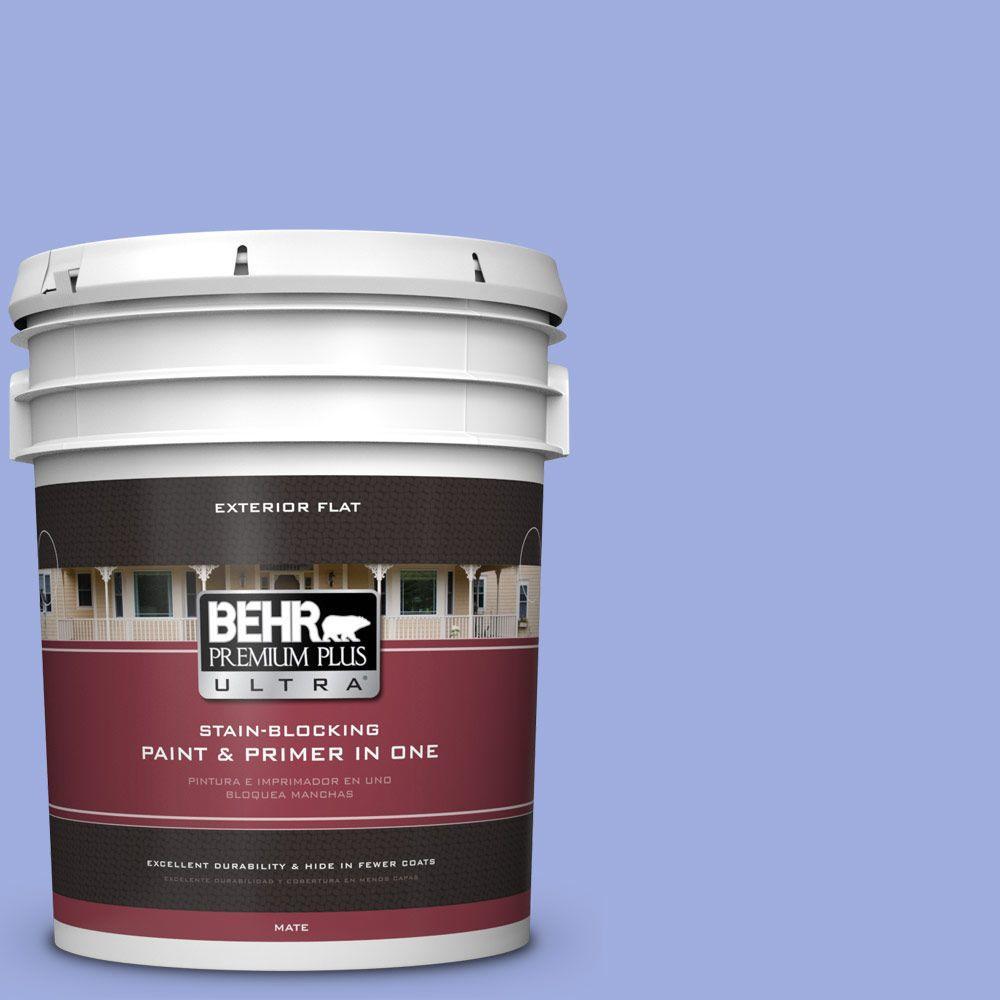 BEHR Premium Plus Ultra 5-gal. #P540-4 Lavender Sky Flat Exterior Paint