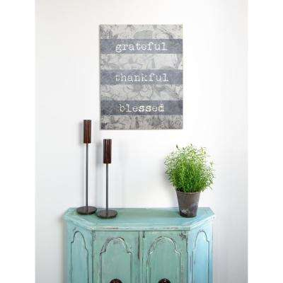 "15.75 in. W x 20 in. H ""Grateful Thankful Blessed"" by SMD Printed Wall Art"