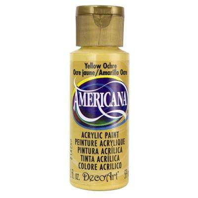 Americana 2 oz. Yellow Ochre Acrylic Paint