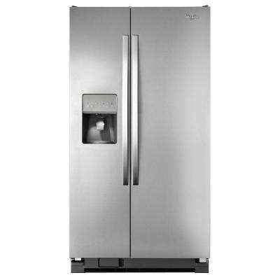 24.5 cu. ft. Side by Side Refrigerator in Monochromatic Stainless Steel