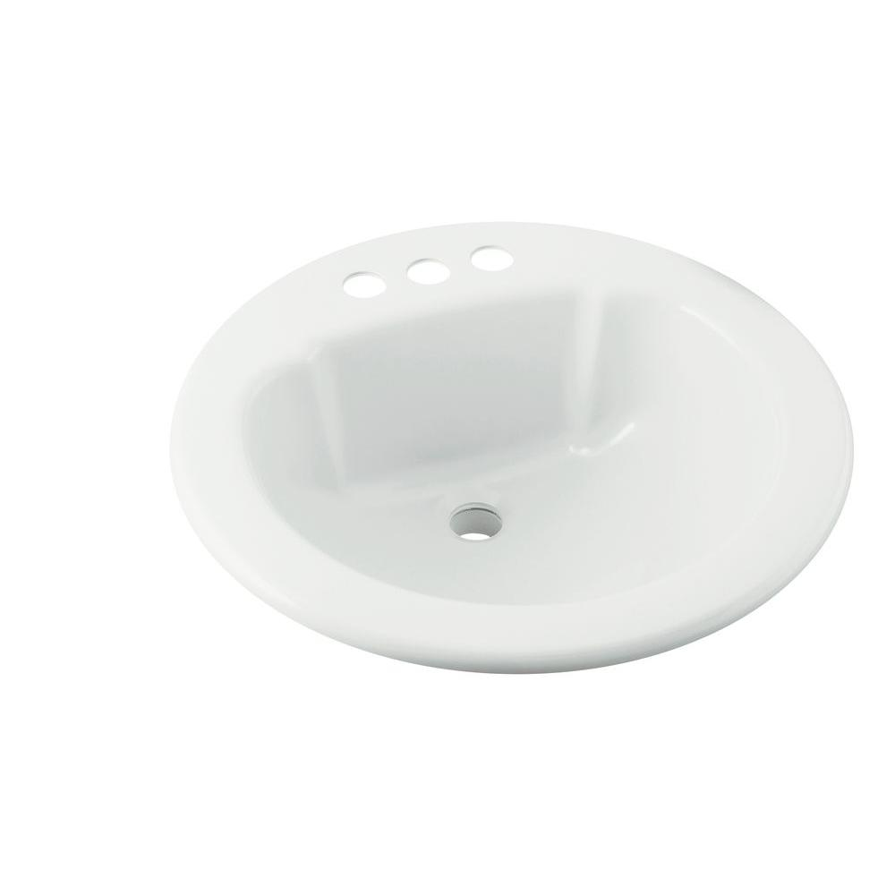 Sterling Drop In Vikrell Bathroom Sink White