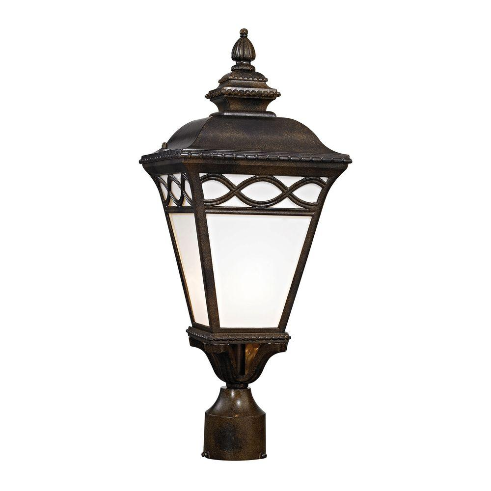 Titan Lighting Mendham 1 Light Hazelnut Bronze Post