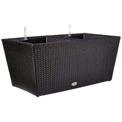32 in. Rectangle Resin Wicker Vista Planter