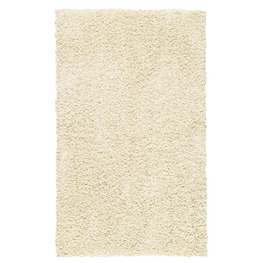 Mohawk Home Frise Shag Starch 3 ft. 4 in. x 5 ft. Area Rug