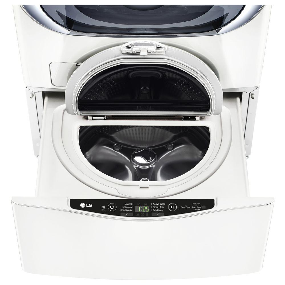 LG 27 in. 1.0 cu. ft. SideKick Pedestal Washer in White