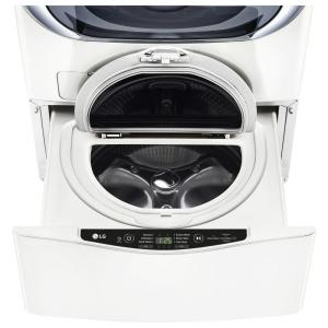 LG 27 in. 1.0 cu. ft. SideKick Pedestal Washer with TWINWash System Compatibility in White