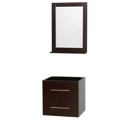 Centra 23 in. Vanity Cabinet with Mirror in Espresso