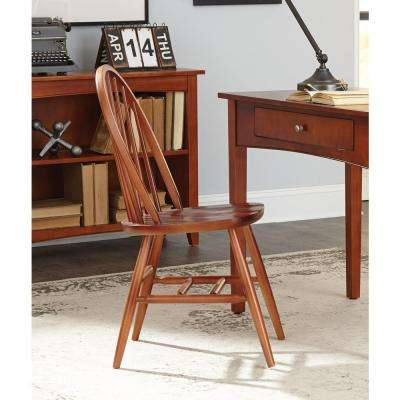 Alaterre Furniture Links Cherry Wood Bow Back Office Chair