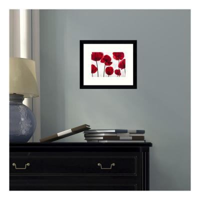 11 in. W x 9 in. H 'Red Friends (Poppies)' by Luca Villa Printed Framed Wall Art