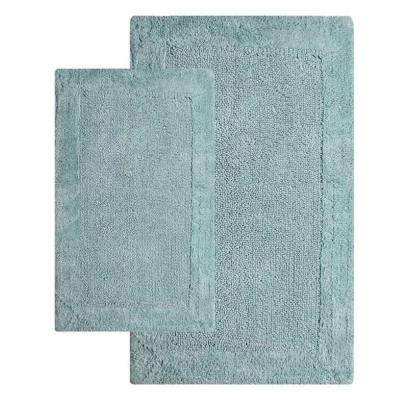 21 in. x 34 in. and 24 in. x 40 in. 2-Piece Bella Napoli Rug Set in Moonstone