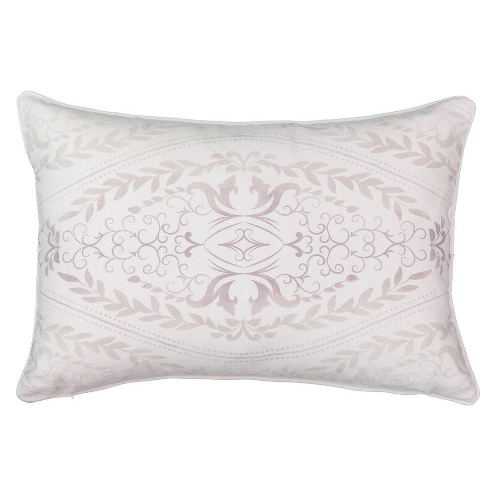 Henriette Paisley Polyester Oblong Lavender Decorative Pillow (Set of 1)
