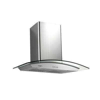 Tornado III 30 in. Wall Mount Range Hood with Light in Stainless Steel