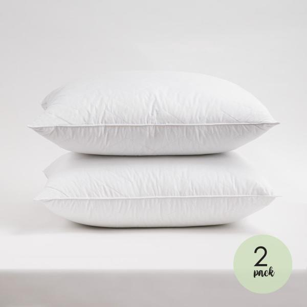Resort Life 230-Thread Count Cotton Herringbone Quilted Standard Pillow (2-Pack)