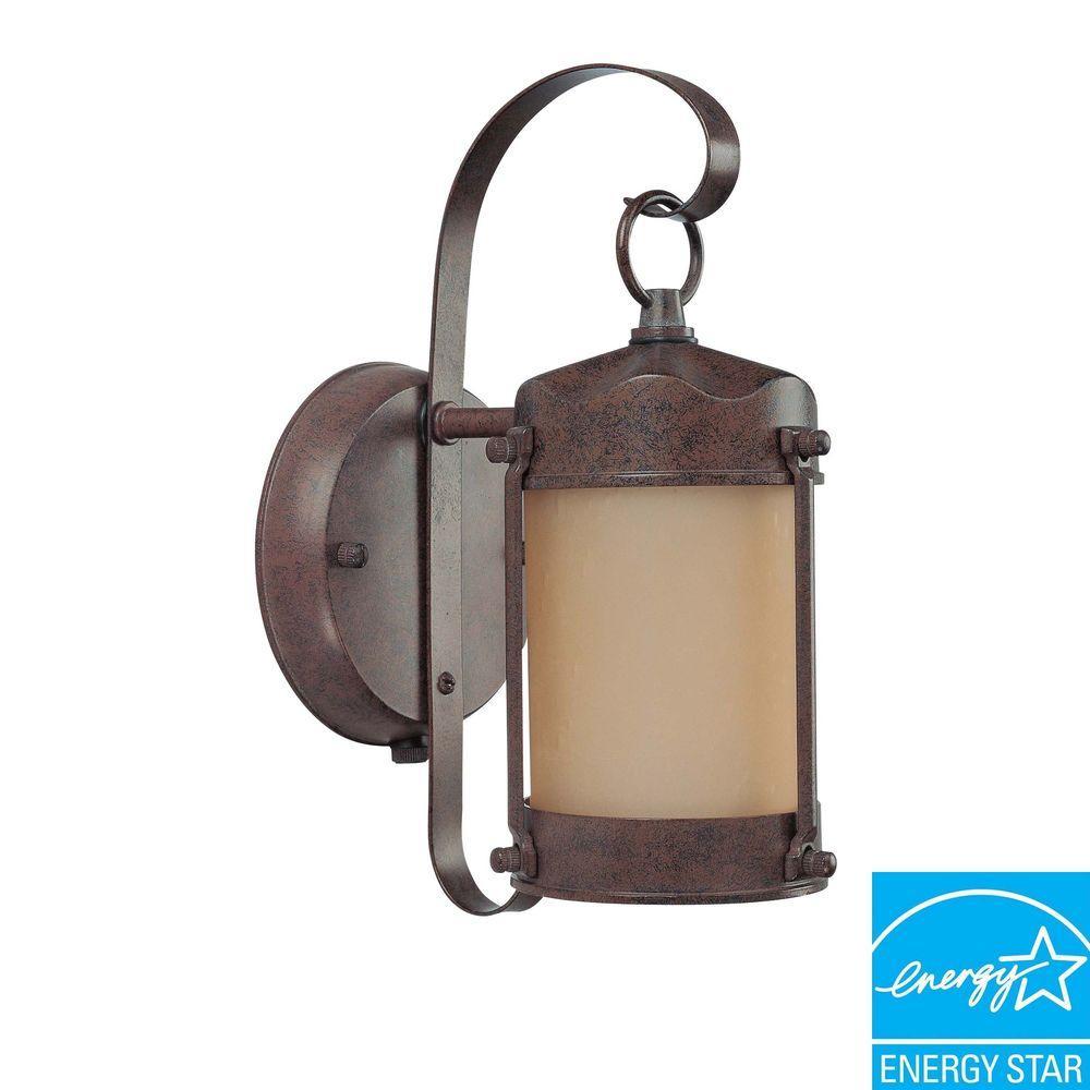 Green Matters 1-Light Old Bronze Fluorescent Outdoor Wall Light