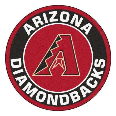 MLB Arizona Diamondbacks Black 2 ft. x 2 ft. Round Area Rug