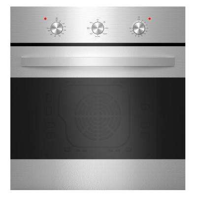 24 in. Single Electric Wall Oven with Convection Fan in Stainless Steel