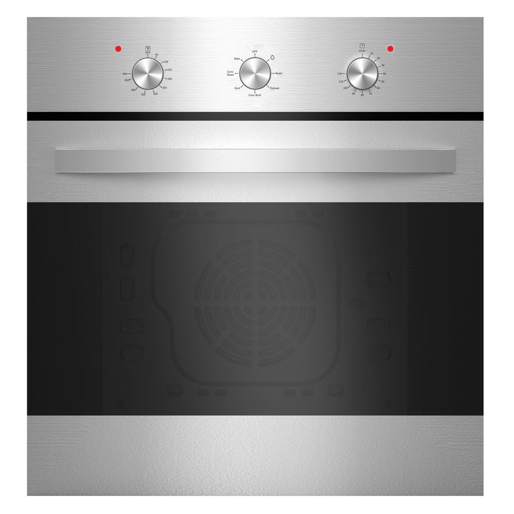 Empava 24 in. Convection Single Electric Wall Oven in Stainless Steel