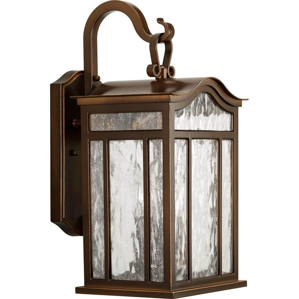 Progress Lighting Meadowlark Collection 3-Light Oil Rubbed Bronze 17.1 in. Outdoor Wall Lantern Sconce