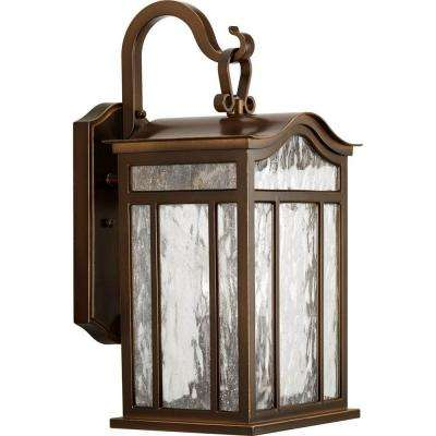 Meadowlark Collection 3-Light Oil Rubbed Bronze 17.1 in. Outdoor Wall Lantern Sconce