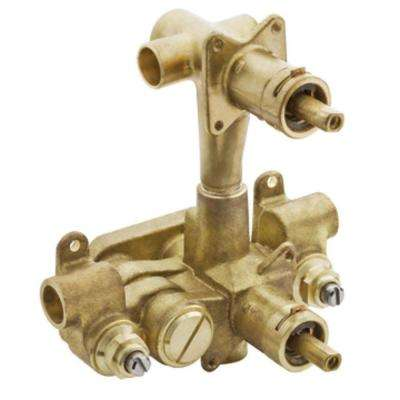 Moentrol Pressure-Balancing Volume-Control 2-Function Transfer Shower Valve with Stops - 1/2 in. CC Connection