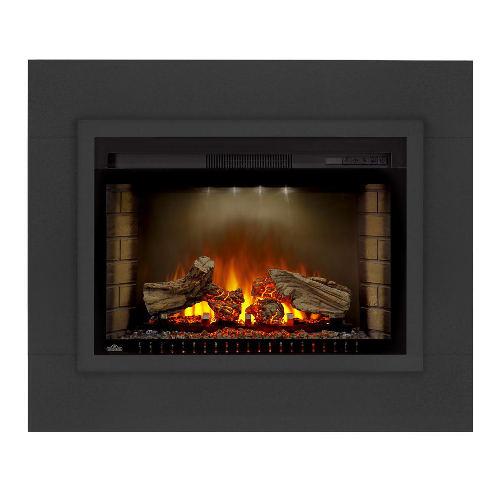 NAPOLEON Cinema Trim in Black can be used with the cinema log or cinema glass fireplaces. Allows you to trim an opening and cover gaps.
