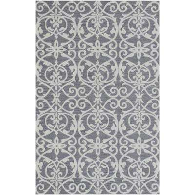 Filigree Silver 9 ft. x 13 ft. Indoor Area Rug