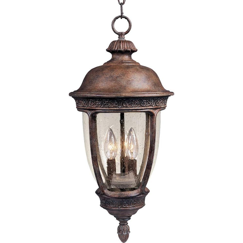 Knob Hill Vivex 3-Light Sienna Outdoor Hanging Lantern