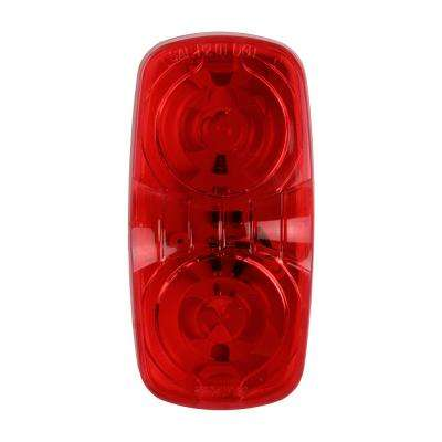 4 in. LED Double Bullseye Clearance and Side Marker Light, Red