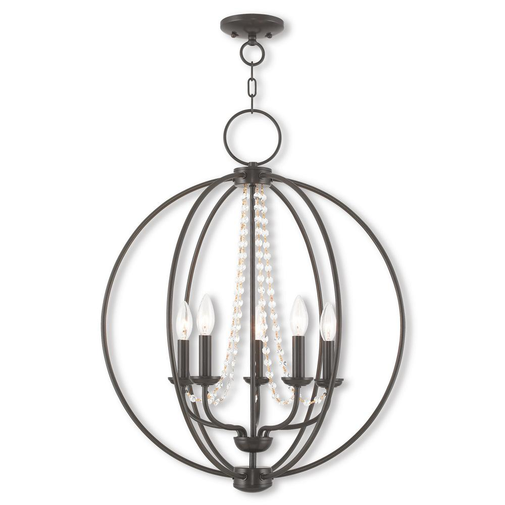 Livex Lighting Arabella 5-Light English Bronze Chandelier