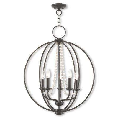 Arabella 5-Light English Bronze Chandelier
