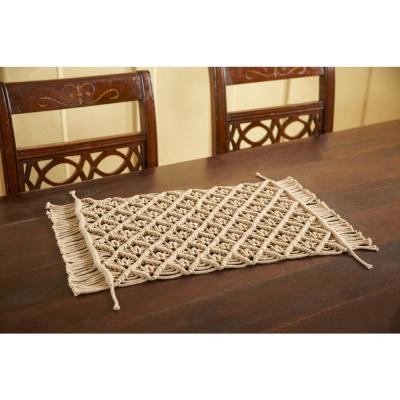 12 in. x 18 in. Solid Beige Placemat