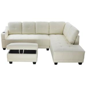 Awe Inspiring Star Home Living Shelly Off White Right Facing Sectional Pdpeps Interior Chair Design Pdpepsorg