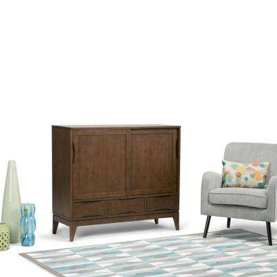 Harper Walnut Brown Stain Storage Cabinet