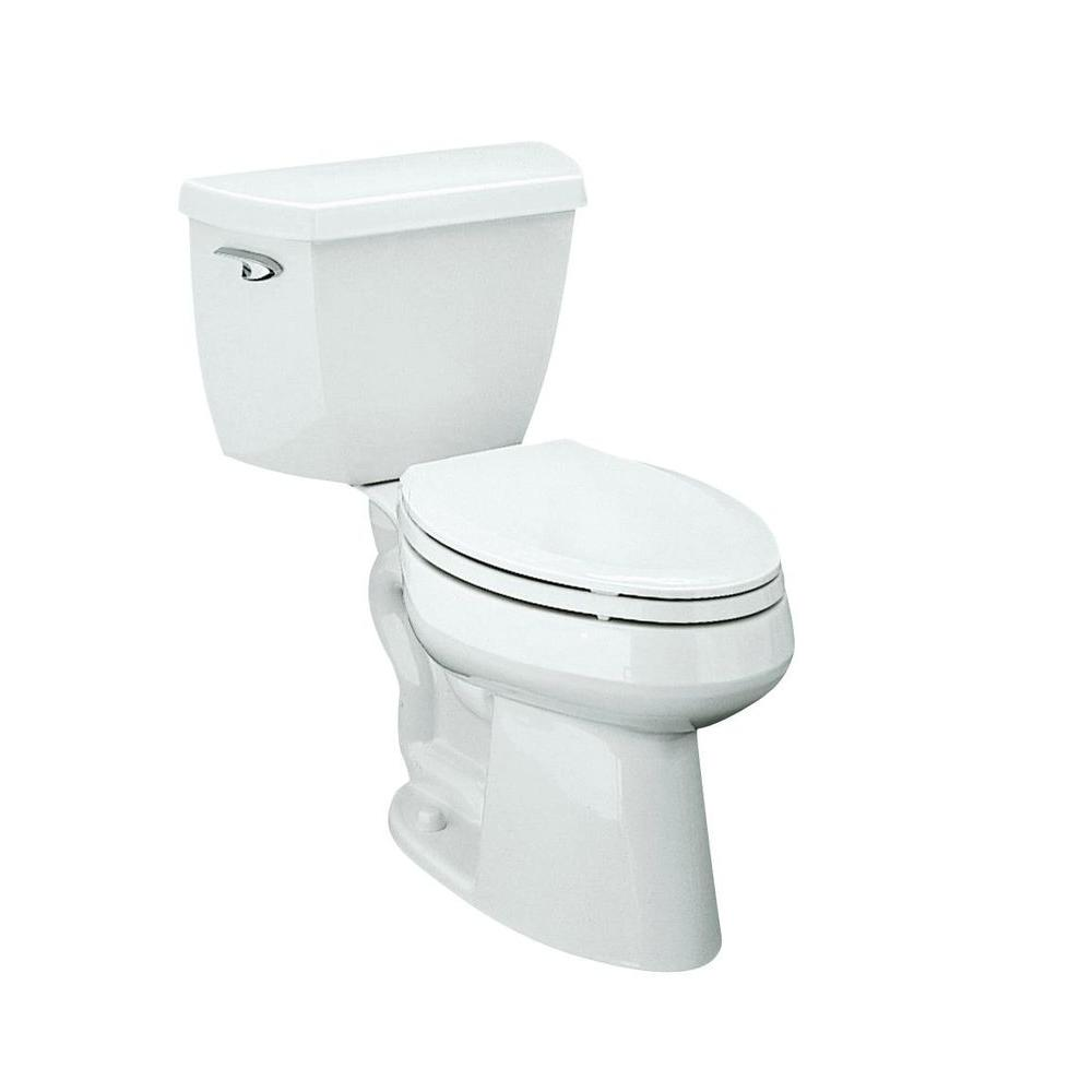 KOHLER Highline Complete Solution 2-Piece 1.6 GPF Comfort Height Elongated Toilet in White-DISCONTINUED