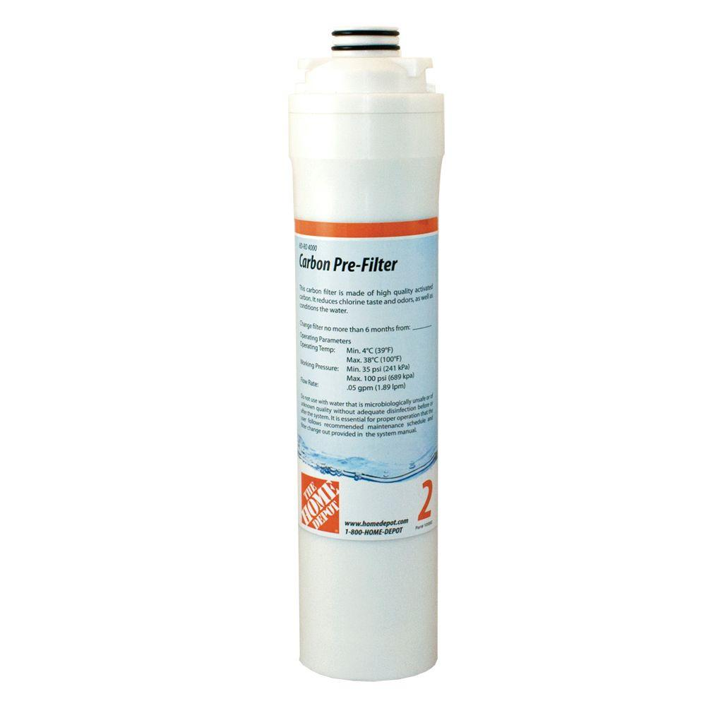 null Pre Carbon Filter Replacement Cartridge for HD-RO 4000, Reverse Osmosis Drinking Water System