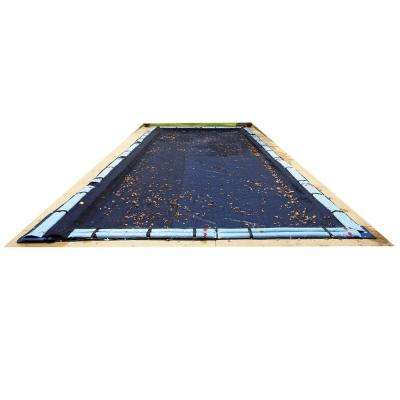 14 ft. x 28 ft. Rectangular Black Leaf Net In-Ground Pool Cover