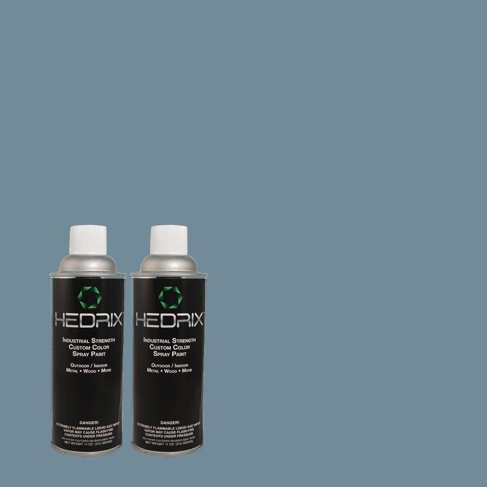 Hedrix 11 oz. Match of TH-60 Old Indigo Flat Custom Spray Paint (2-Pack)
