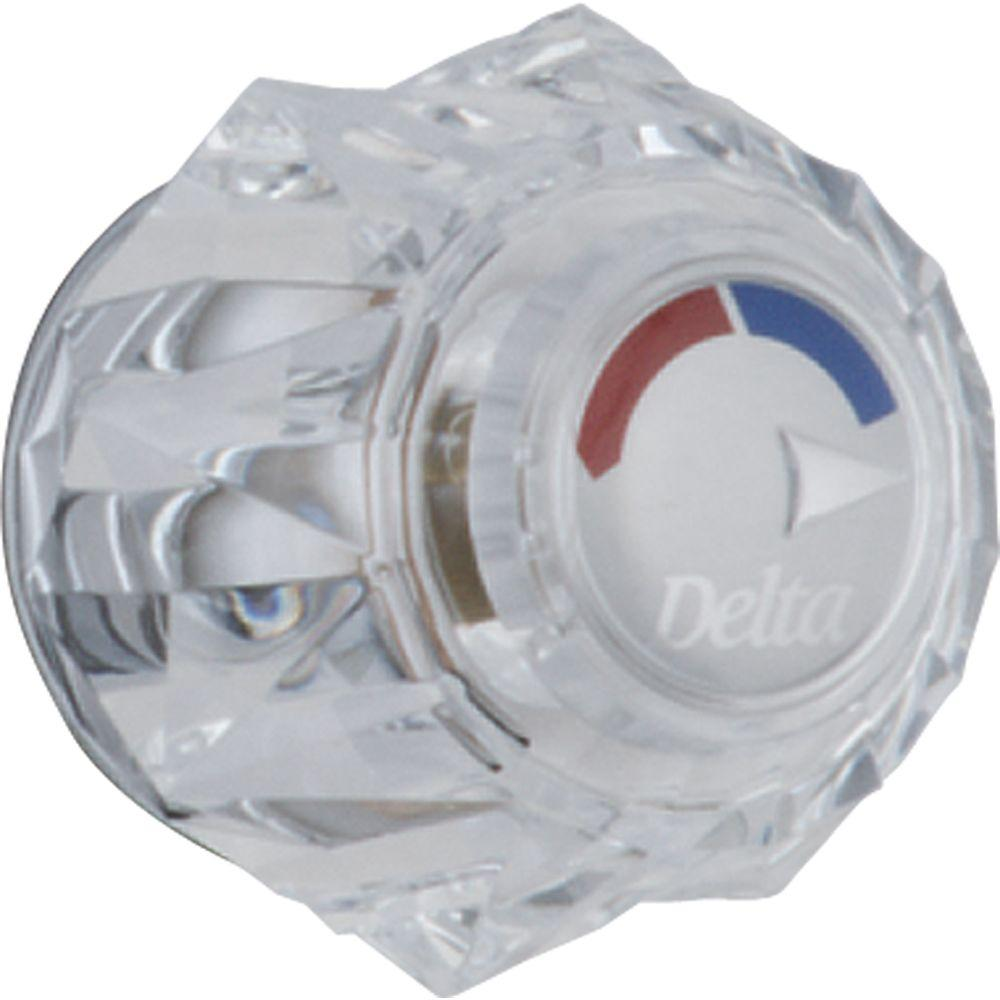 bathroom faucet knobs. Delta Clear Knob Handle For 13/14 Series Shower Faucets Bathroom Faucet Knobs K