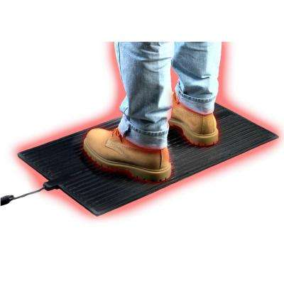 36 in. x 16 in. x 0.25 in. Super Foot Warmer Heated Rubber Floor Mat